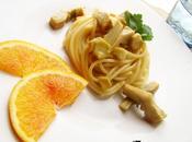 Spaghetti carciofi crema all'arancia