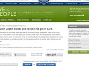 petizione sito della Casa Bianca espellere Justin Bieber dagli