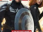 Scarlett Johansson Chris Evans Captain America sulla copertina Total Film Magazine