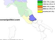Sondaggio SCENARIPOLITICI gennaio 2014): ABRUZZO, 34,5% (+5,5%), 29,0%, 28,5% primo partito, avanti come coalizione, Forza Italia