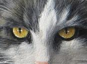 Ritratto gatto pietra Mina