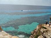meraviglioso mare dell'isola Favignana
