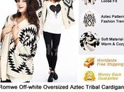 Romwe Off-white Aztec Tribal Cardigan.$15.99 March only!