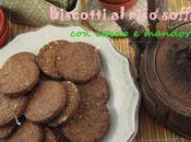 Biscotti integrali riso soffiato cacao mandorle