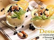 Dessert mascarpone limone basilico
