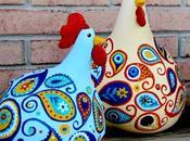PASQUA branco polli disegno cachemire