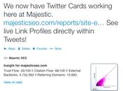 Integrazione Twitter Majestic