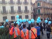"Siracusa: fontana Diana illuminata blu, splendida cornice l'iniziativa ""Light Blue"""