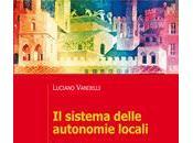 VANDELLI, sistema delle autonomie locali, Mulino, 2013