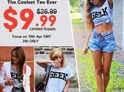 'Geek' Print grey T-shirt