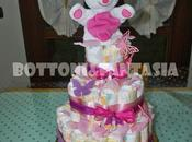 torta pannolini tutta rosa!