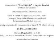 Milano libri: Magnolia libro presentato Italia Angelo Tondini tradotto lingue: haiku albero