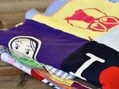 Coprire ricordi: trapunta realizzata vecchie t-shirt