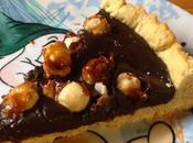 Crostata cioccolato fondente nocciole caramellate