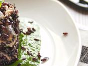 Consumare giusto: riso venere sardine pesto spinaci