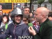 "Video. Striscia Notizia torna Napoli: casco caschi?"""