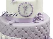 Torta comunione Elisa: farfalle glicine