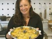 "Montaione Tavola: ""Tortino patate, carciofi rosmarino"" Scalloped potatoes, artichokes rosemary flowers."