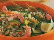 Insalata riso zucchine gamberi