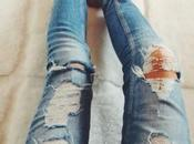 Distressed Jeans, look