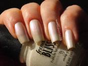 [Birthstone Challenge 2014]#6 June: Pearl China Glaze French Bliss White Pearl)+China Rainbow