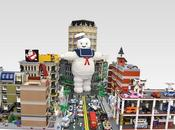 Diorama gigante LEGO Ghostbusters