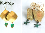 "Summer vibes: ""Taormina"" ""Salento"" earrings hammered brass {Gypsy Collection}"