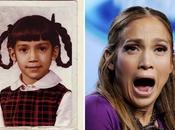 Jennifer Lopez bambina tutta treccina