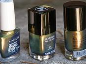 [VS] Chanel Péridot/Maybelline Gold Emeralds/Catrice Genie Bottle