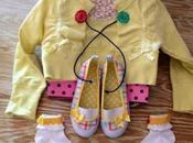Outfit bimba giallo refashion