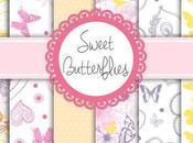 Carte Scrap: SWEET BUTTERFLIES (scrap paper set)
