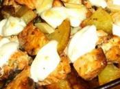 Pasticcio salmone mozzarella bufala campana affumicata patate