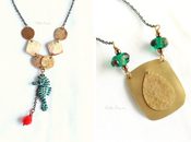 """Summer vibes: """"Palau"""" """"Portovenere"""" necklaces hammered brass {Gypsy collection}"""