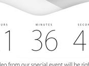 pagina ufficiale Apple reindirizza Countdown dell'evento domani