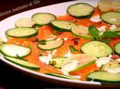 SALMONE marinato insalata cetrioli lime