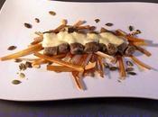 Gnocchi olive taggiasche fonduta parmigiano zucchine