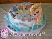 Violetta Elsa cake