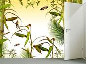 Garden design: dracena tappezzeria trompe l'oeil