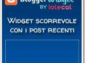 Widget scorrevole post recenti