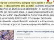 "Bufala omofobica Fornero sdogana pedofilia"""