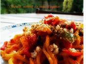 Troccoli mollicati crema peperoni