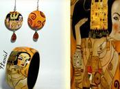 Bracciali orecchini legno dipinti mano!