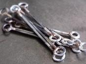 Ottone, patina argento: collana