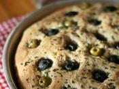 Focaccia semintegrale alle olive