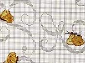 Lettere alfabeto farfalle punto croce