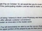 Walgreens prepara rilascio Apple Ottobre