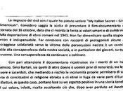 Italian Secret, messaggio della Presidenza Repubblica Italiana
