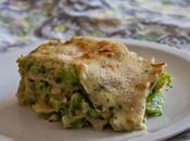 Lasagna broccoli, aglio erbette