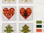 Piccoli facili schemi punto croce dedicati Natale