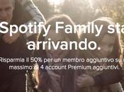 Spotify Family: risparmiare famiglia